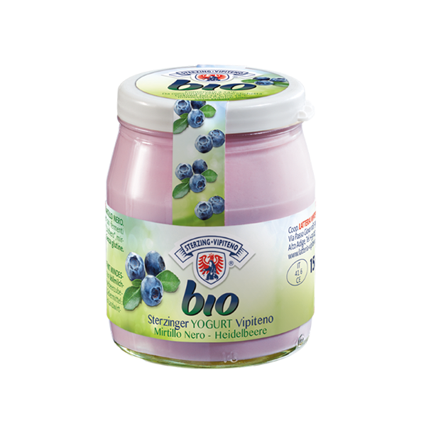Yogurt Bio Vetro Mirtillo Nero Gr. 150