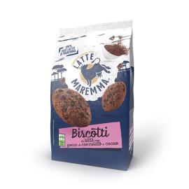Biscotti al latte fresco intero e cacao Gr. 300
