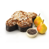 Colomba pere cioccolato e cannella con glassa alle mandorle Kg. 1