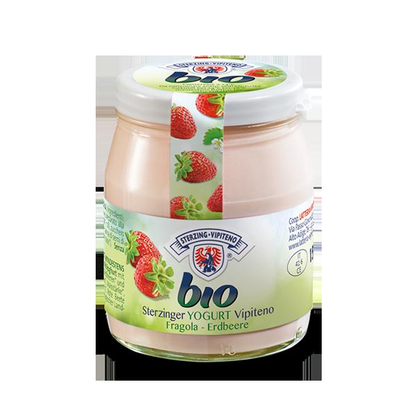 Yogurt Bio Vetro Fragola Gr. 150