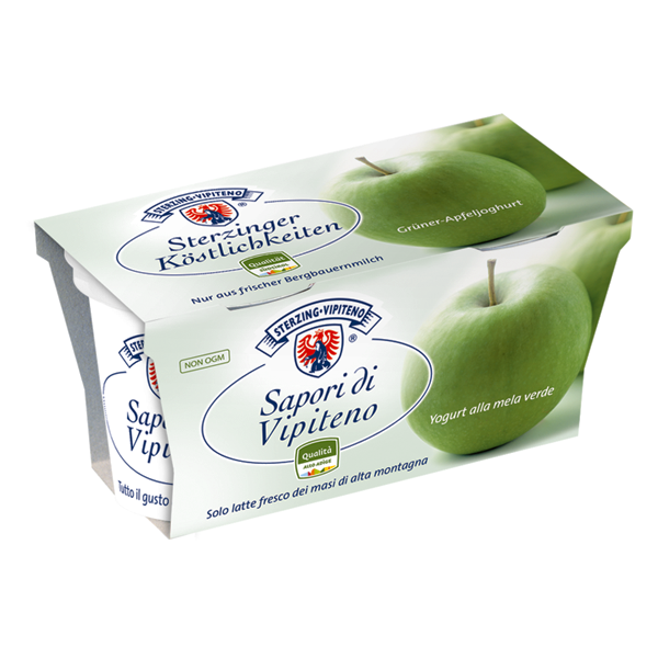 Yogurt Mela Verde Sapori di Vipiteno Gr. 125 x 2